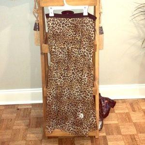 Cheetah mesh skirt